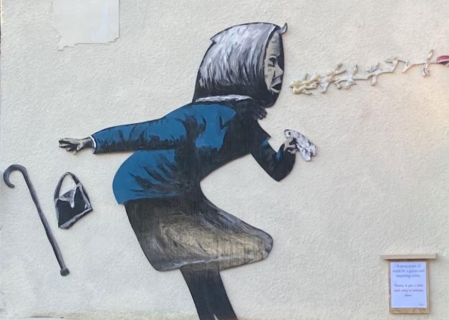 Banksy Achoo in Matlock Derbyshire