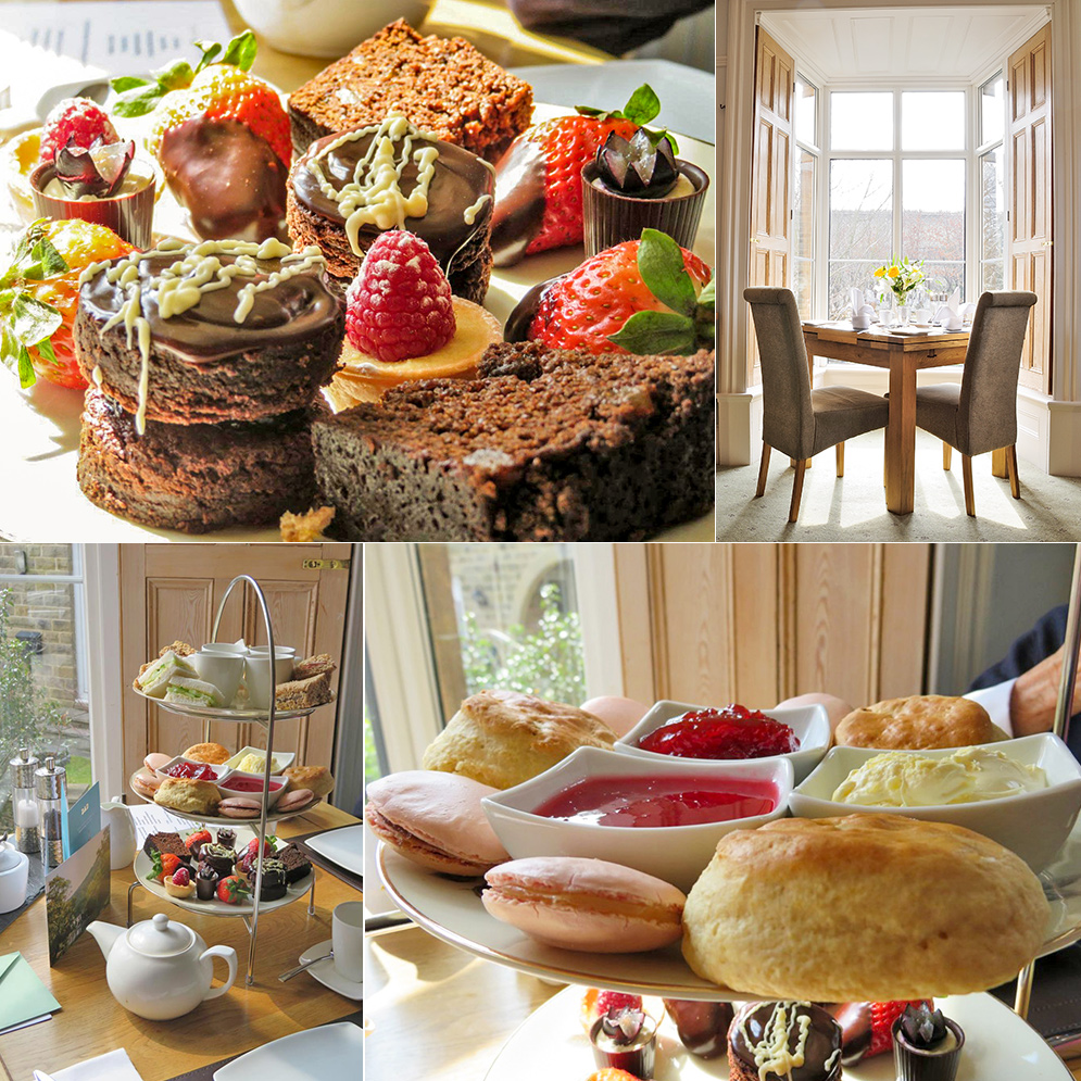 selection of afternoon teas at Sheriff Lodge in Matlock